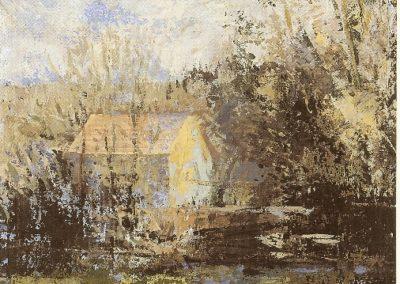 río y casa